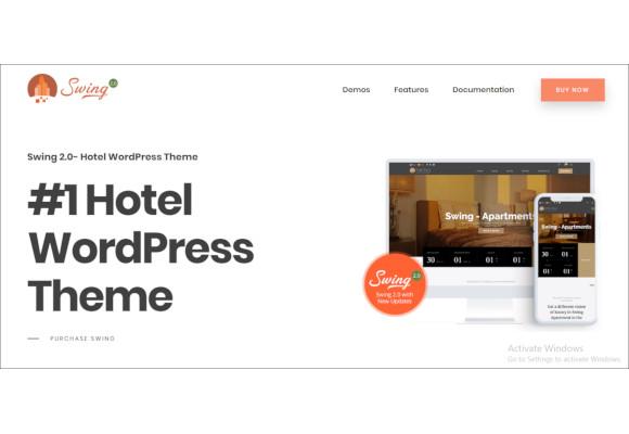 swing resort and hotel wordpress theme