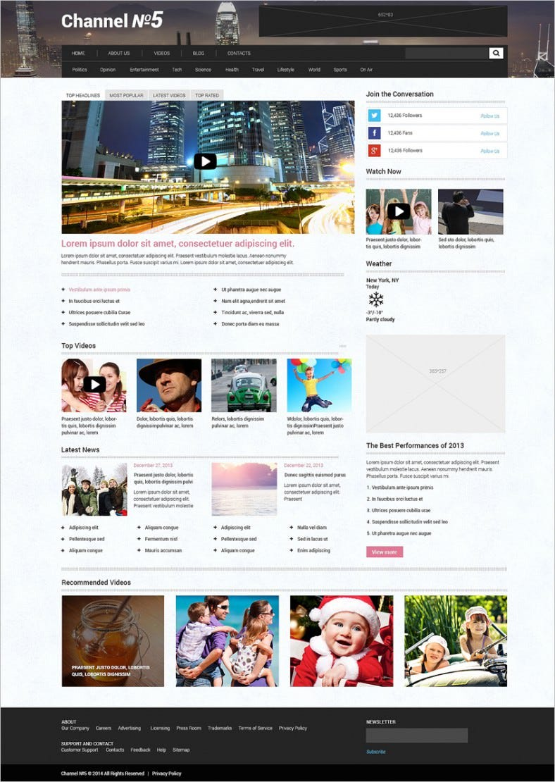 tv channel responsive wordpress theme 3 788x1110