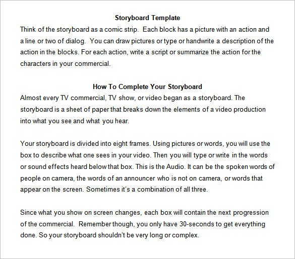 7 commercial storyboard templates free word pdf format download this storyboard template can help you connect with your audience with ease download it for free from this page make as many copies as you can and use saigontimesfo