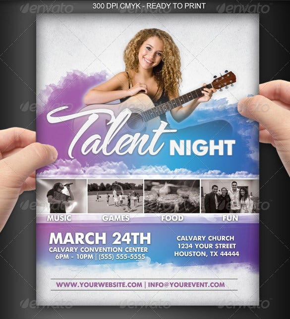 talent night show flyer