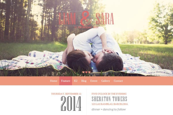 tasteful joomla wedding template