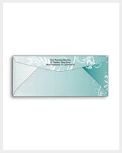 Teal-Leafy-Flourish-#10-Size-Business-Envelope