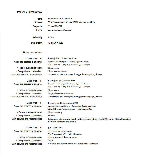 10 Fashion Designer Resume Templates Doc Pdf Free Premium
