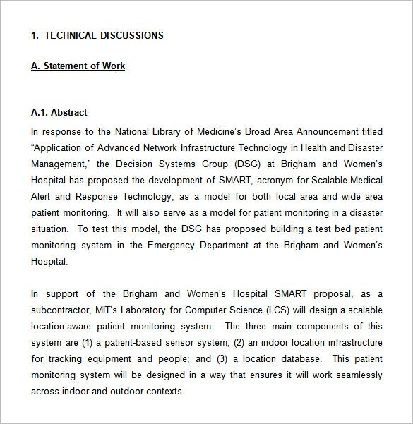 technical proposal sample