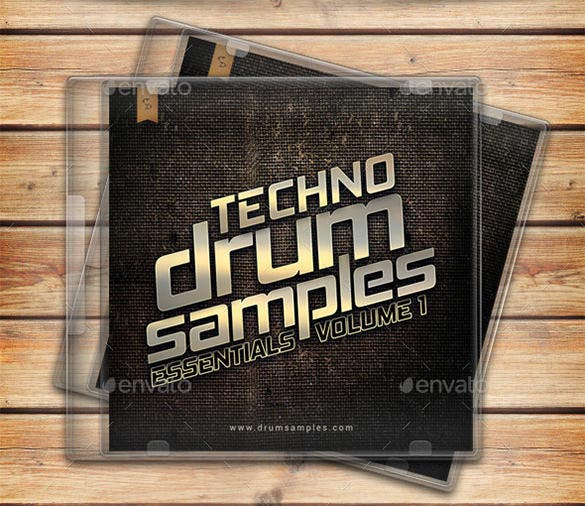 techno drum samples dvd cover template