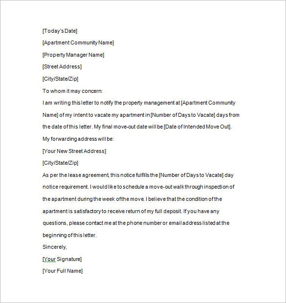 tenancy notice to vacate pdf download. Resume Example. Resume CV Cover Letter