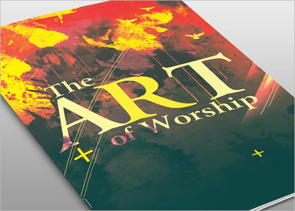 the art of worship church bulletin template