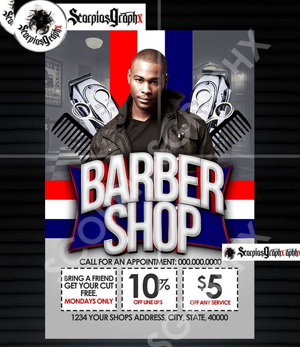 the barber shop flyer template