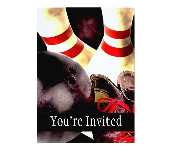 the best bowling invitation template