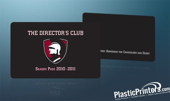 Good The Directors Club Membership Card Template Regard To Membership Card Samples