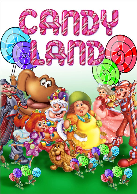the great candyland invitation template