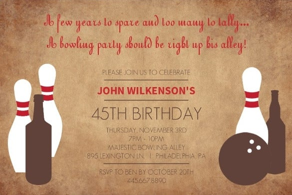 The Perfect Bowling Invitation Template