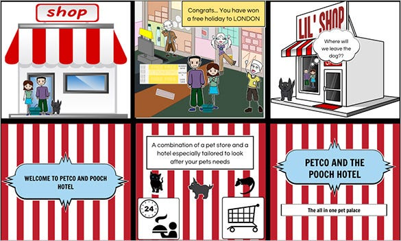Commercial Storyboard Templates  Free Word Pdf Format Download