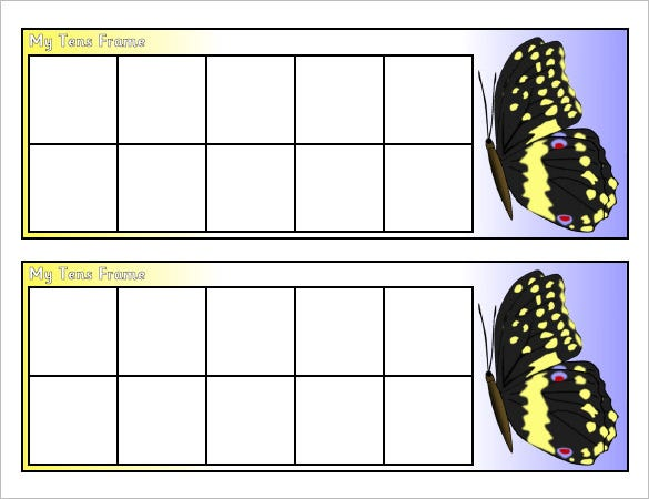 All Worksheets » Ten Frame Printable Worksheets - Printable