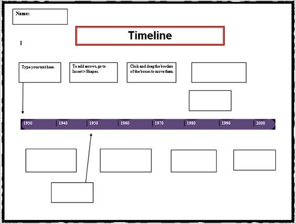 Timeline Template Free Word Excel PDF PPT PSD Format - Timeline templates for word