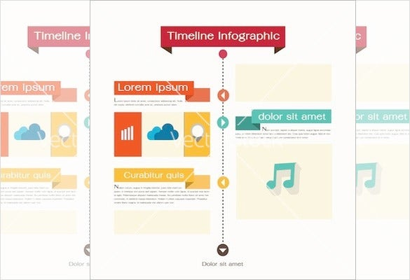 timeline web element template psd