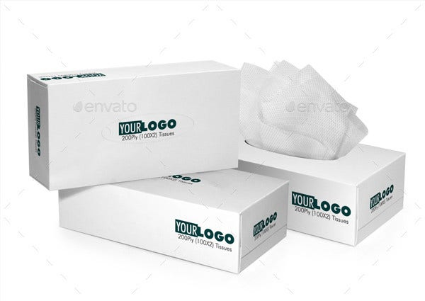 tissue box 3d perspective template