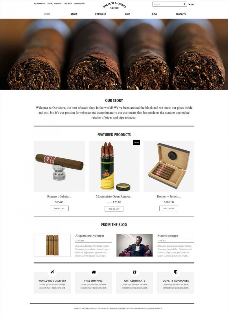tobacco cigars store woocommerce theme 788x1093
