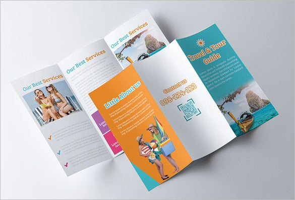 tour travel guide trifold brochure template