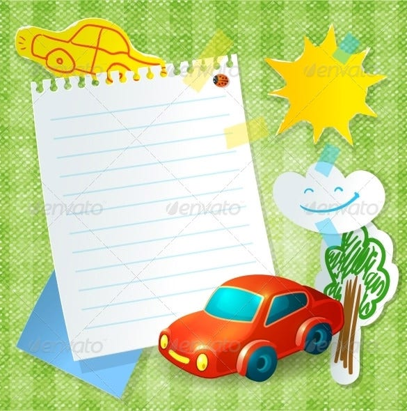 toy 3d car paper template 4