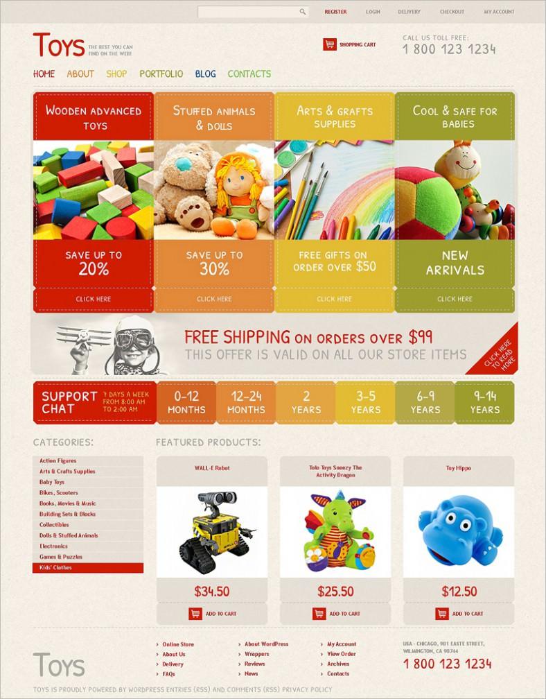 toy store responsive jigoshop theme 788x1008