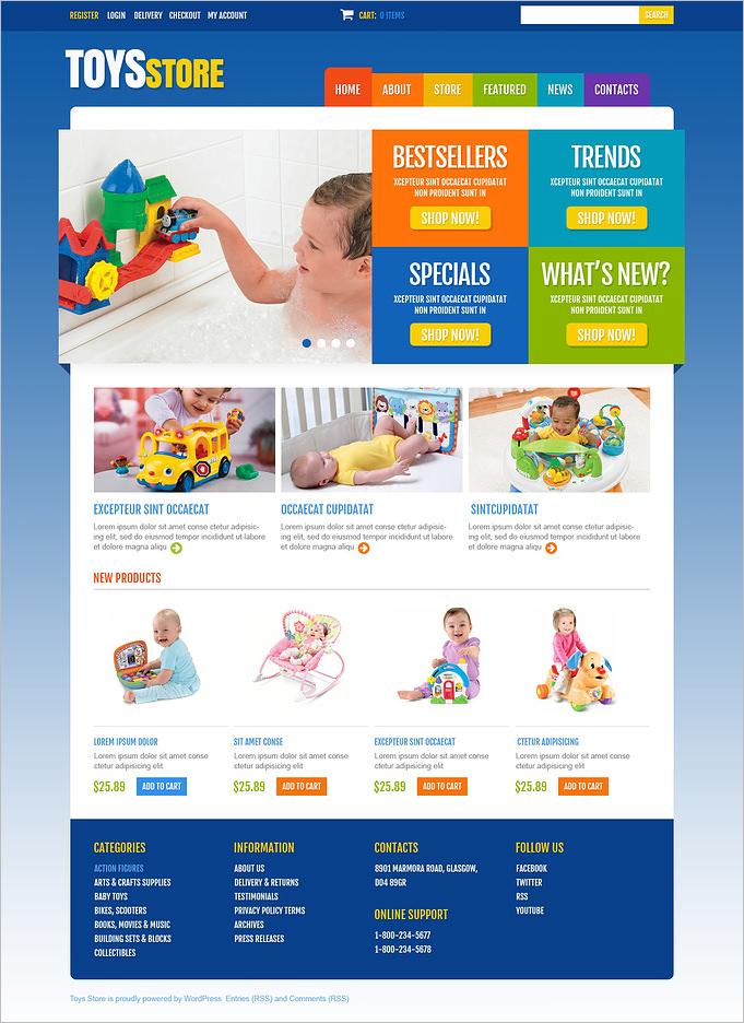 toys store jigoshop theme