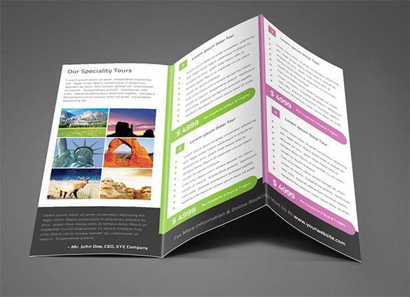 Travel Company Trifold Brochure Psd