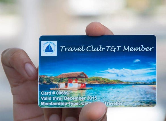 travel membership card template