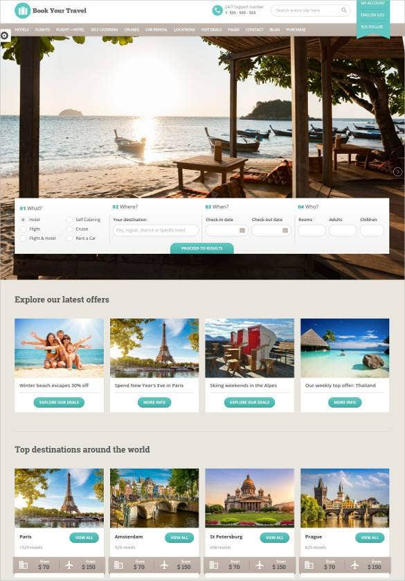 travel-portal-responsive-html-template