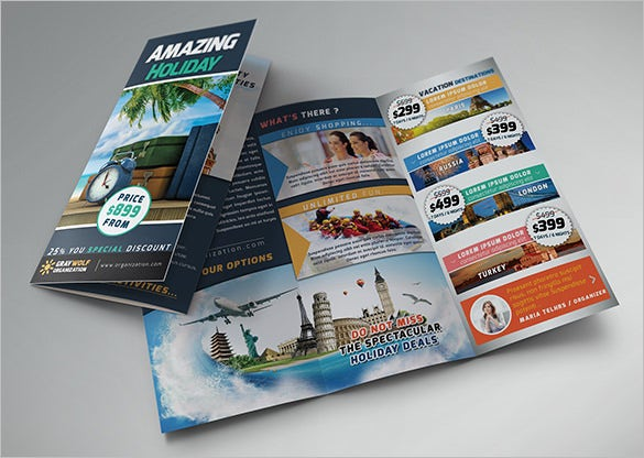 travel tour trifold brochure download