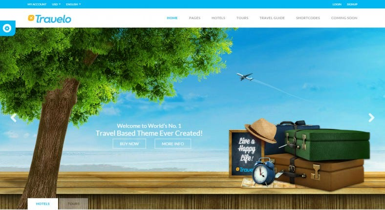 TravelTour Booking WordPress Theme