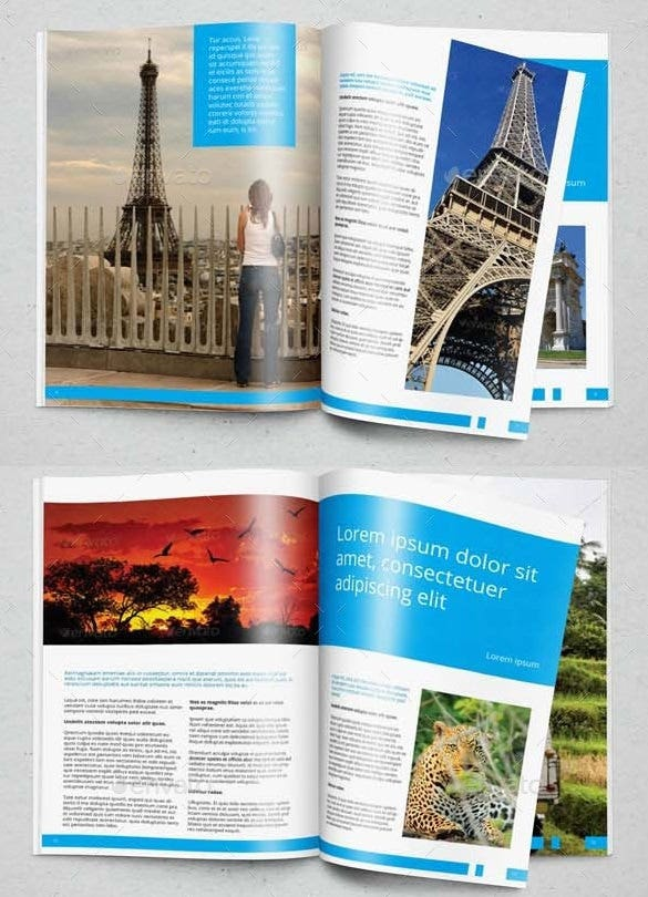 traveler brochure in indesign format