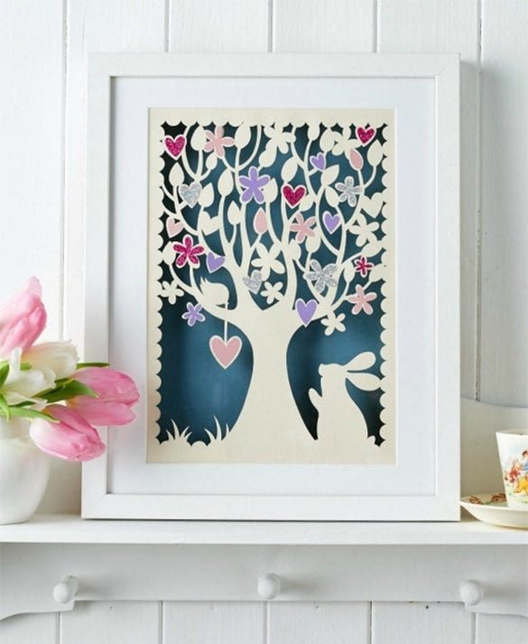 tree papercutting papercrafttemplate