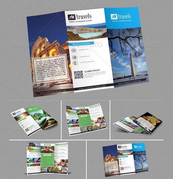 tri fold holiday travel brochure