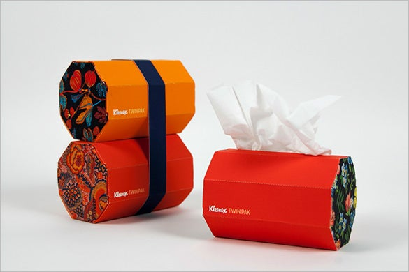 twin tissue box pack template