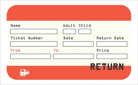 train ticket template word - ticket template 81 free word excel pdf psd eps