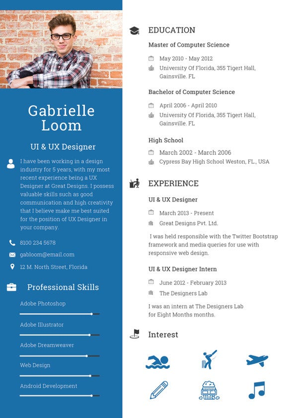 45 blank resume templates free samples examples format ux designer resume template in publisher yelopaper Images