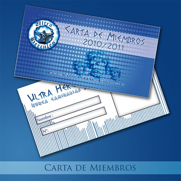ultra hercules psd membership card template