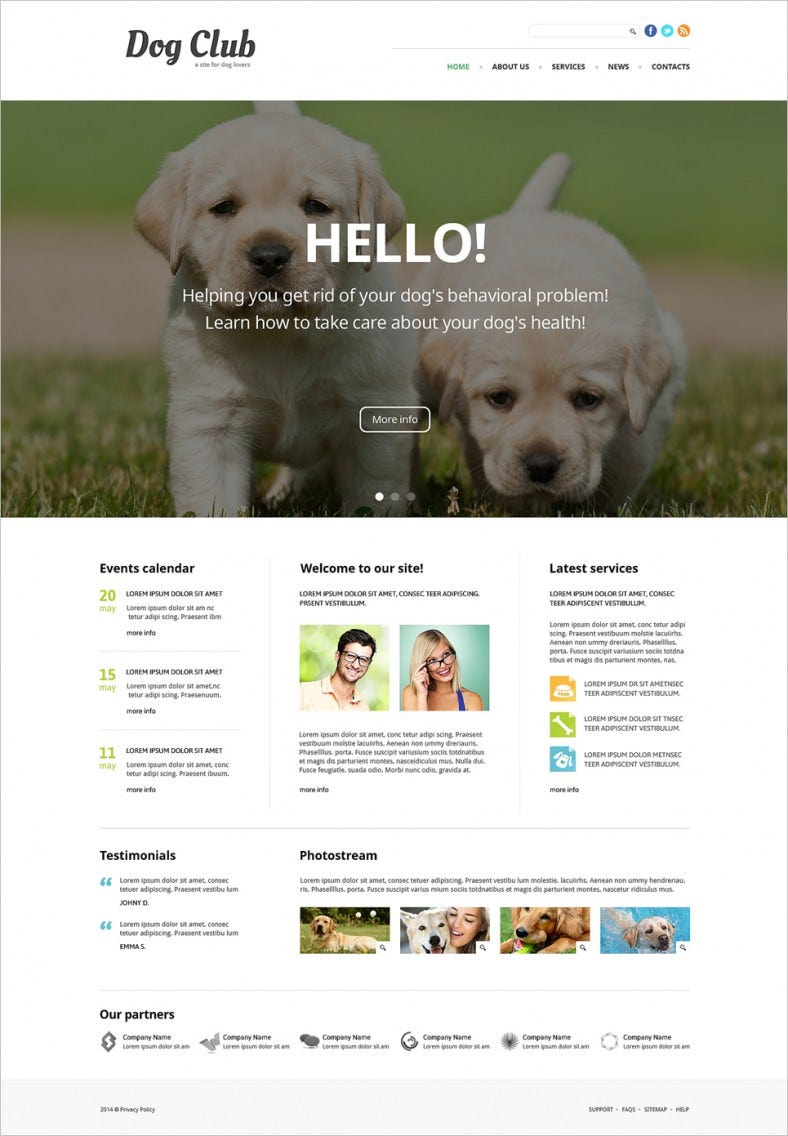 User Friendly Bootstrap Responsive Animal Joomla Template