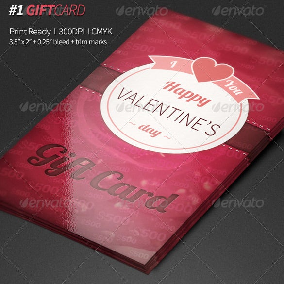 valantines gift card template