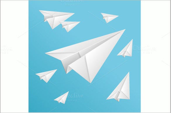 vector origami paper airplane 5
