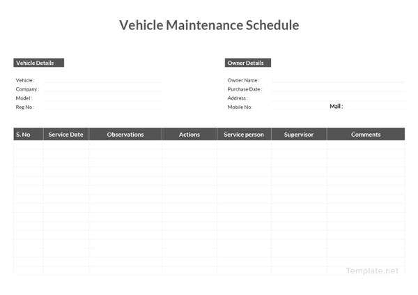 vehicle-maintenance-schedule-template