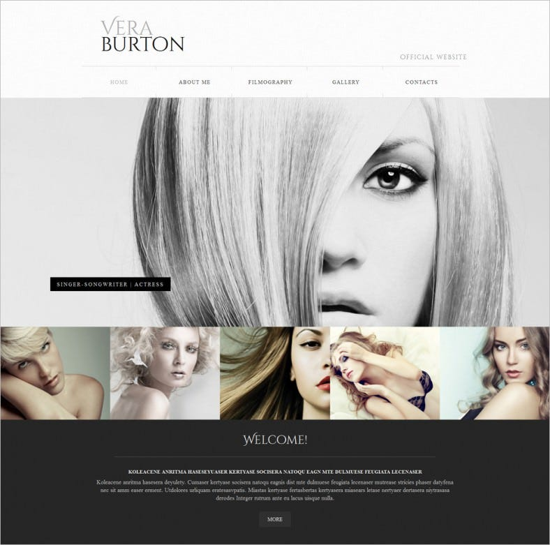 vera burton website template 788x781