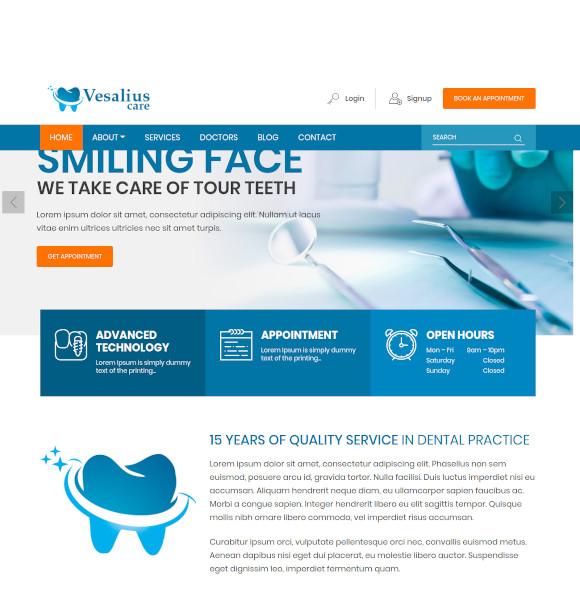 vesalius care html template