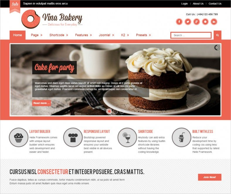 vina bakery ii flexibility and responsive joomla template 788x663