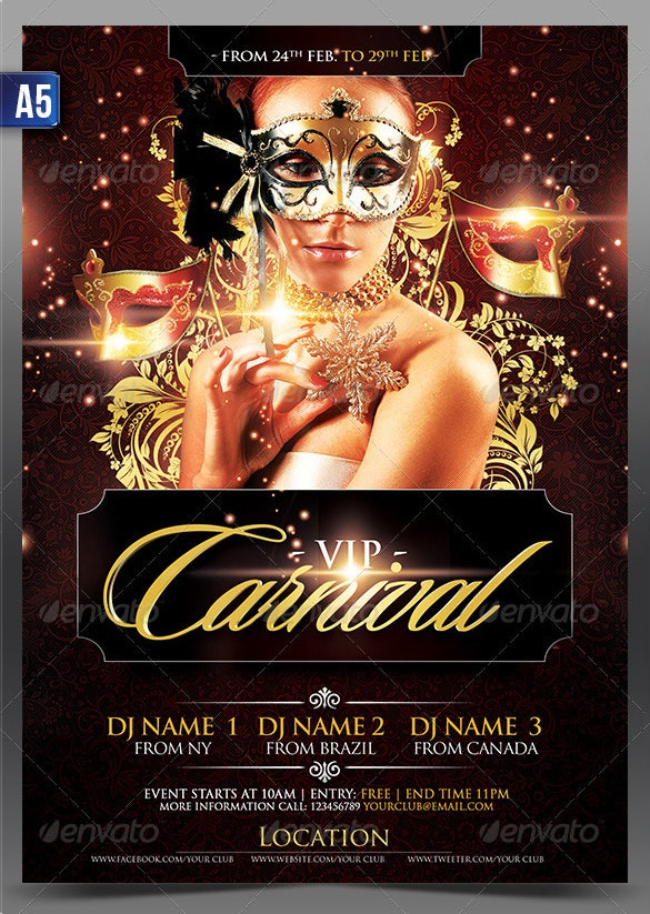 vip carnival flyer template