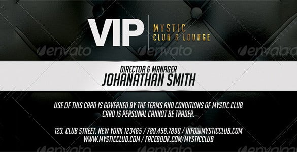 vip psd membership card template