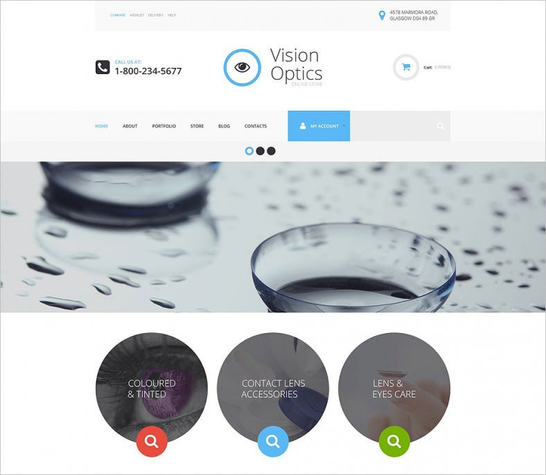 Vision Optics Online Store WooCommerce Them