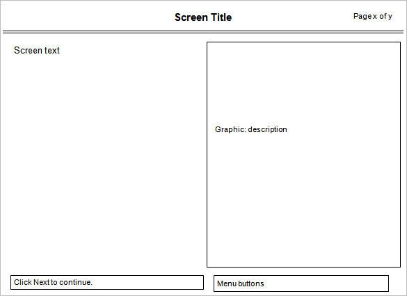 Storyboard Template   Free Word Pdf Ppt Psd Format  Free