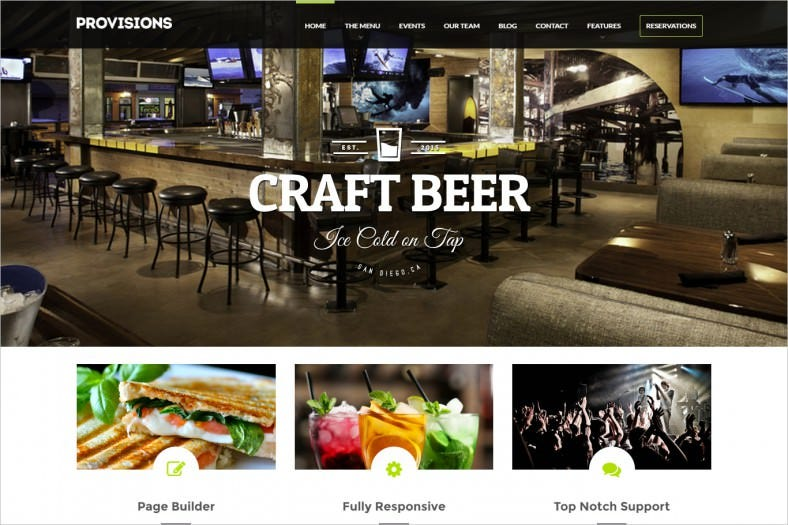 Restaurant & Bar WordPress Theme
